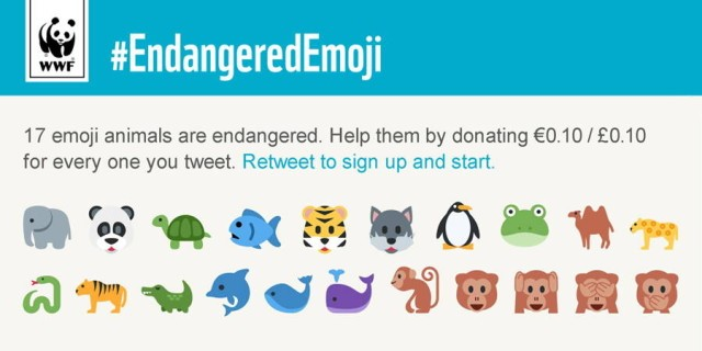 Tweet emoji to save animals